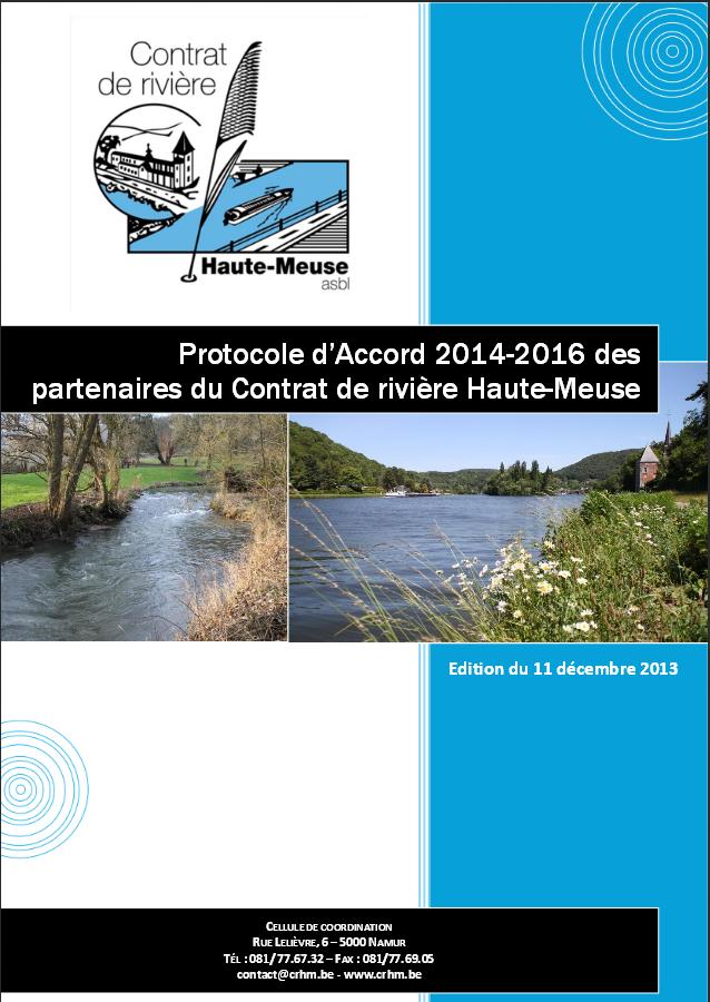 Protocole d'Accord des partenaires du Contrat de rivière Haute-Meuse - 2014/2016