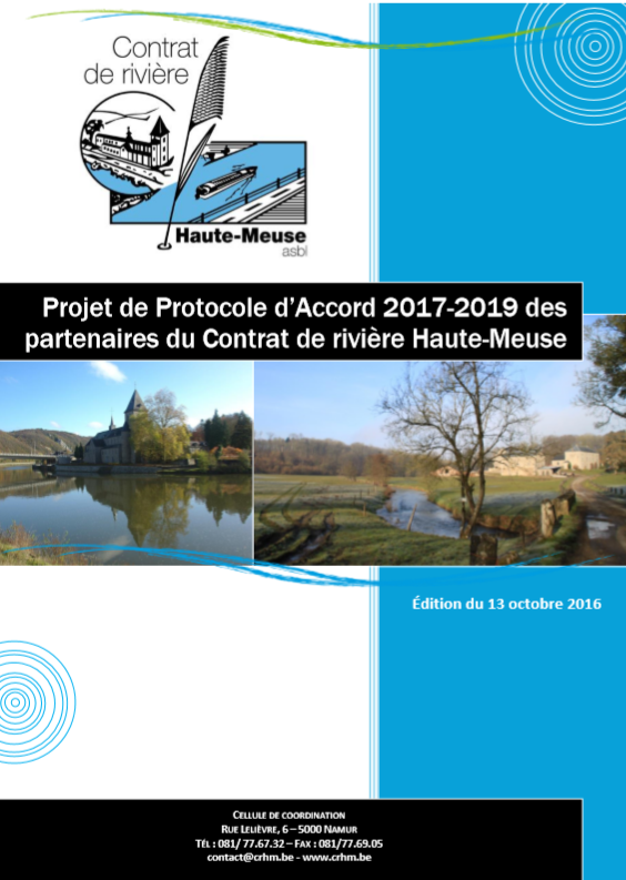 Protocole d'Accord des partenaires du Contrat de rivière Haute-Meuse - 2017/2019