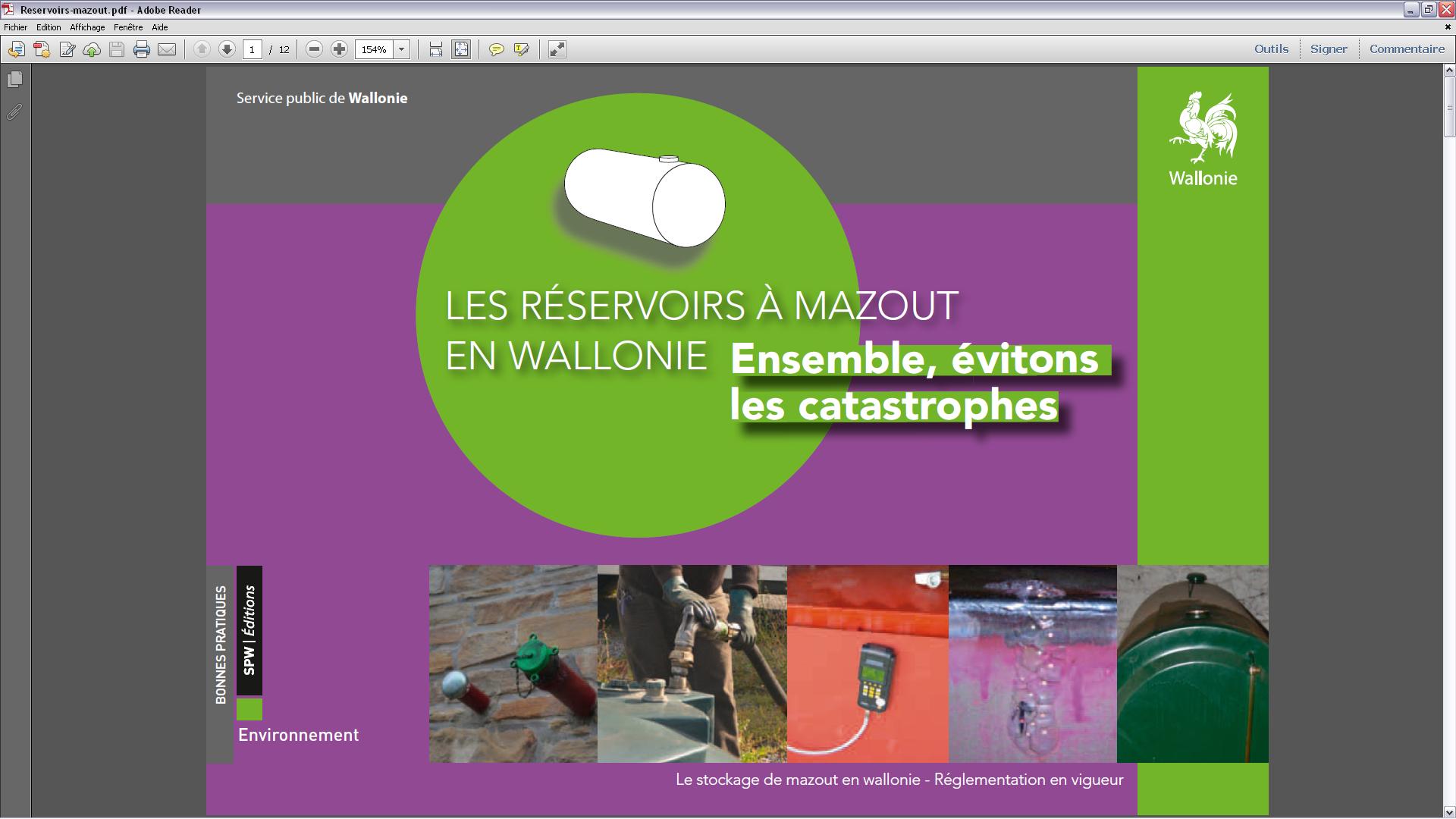 Les réservoirs à mazout en Wallonie : Ensemble, évitons les catastrophes