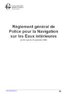 Règlement général de Police pour la Navigation sur les Eaux intérieures