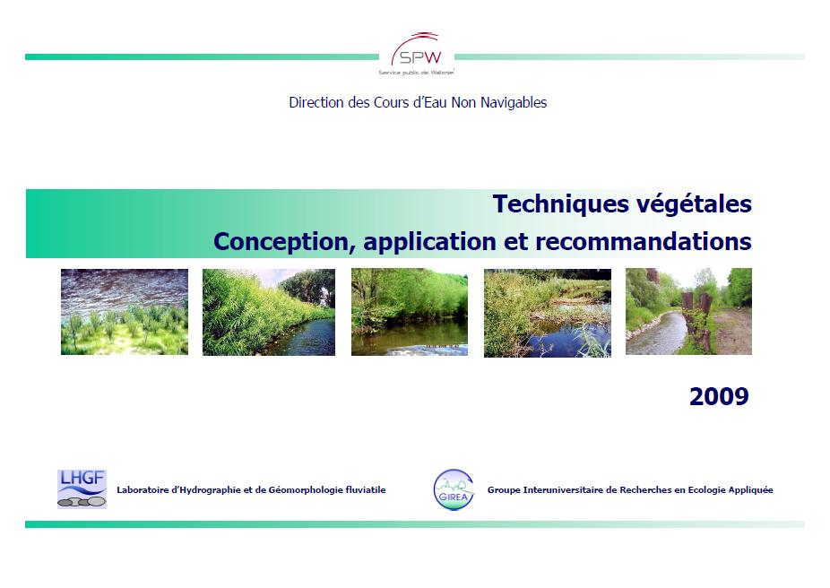 Techniques végétales : Conception, application et recommandations
