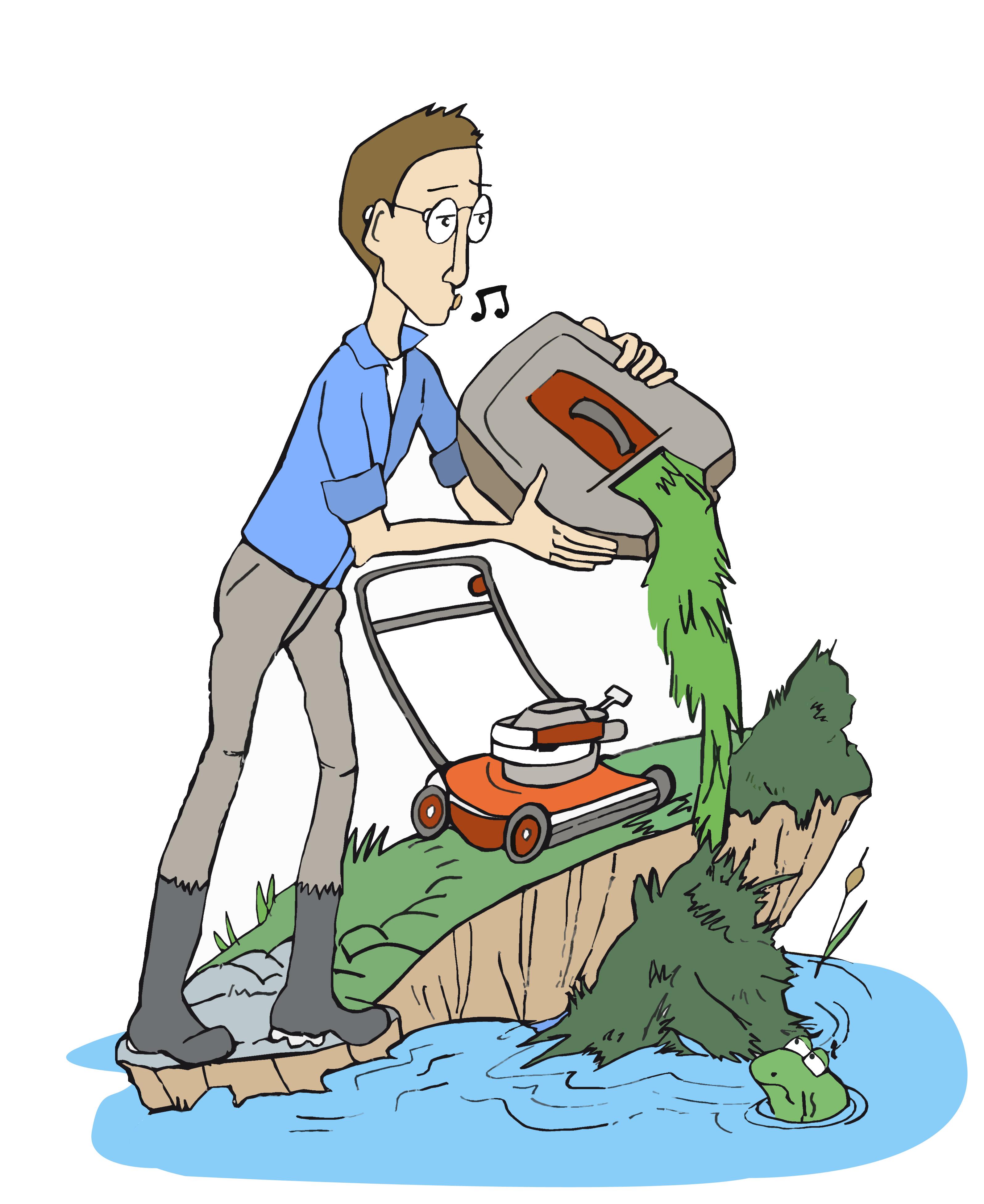 Stop aux déchets verts dans la rivière !